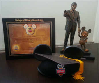College of Disney Knowledge Travel Agent Graduation
